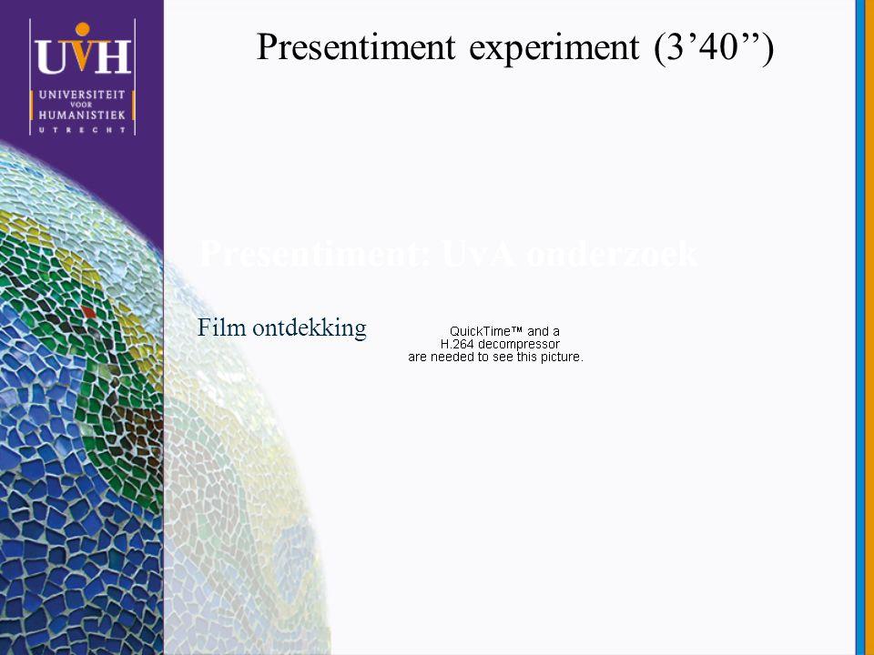 Presentiment: UvA onderzoek