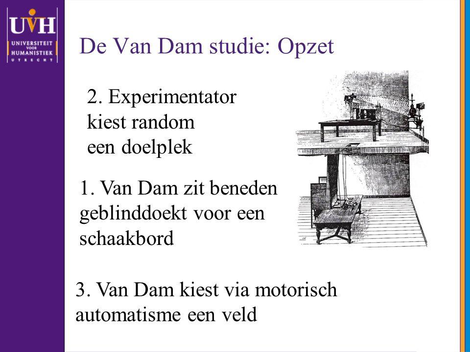 De Van Dam studie: Opzet