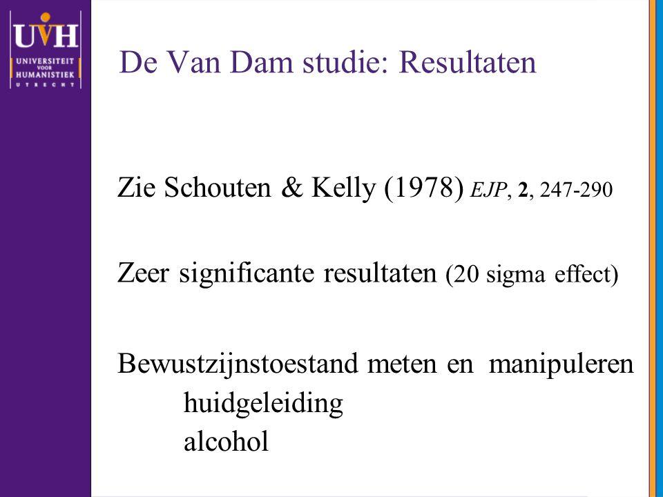 De Van Dam studie: Resultaten