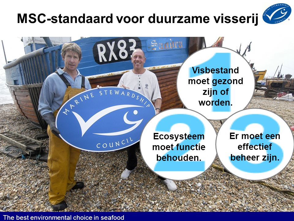 MSC-standaard voor duurzame visserij