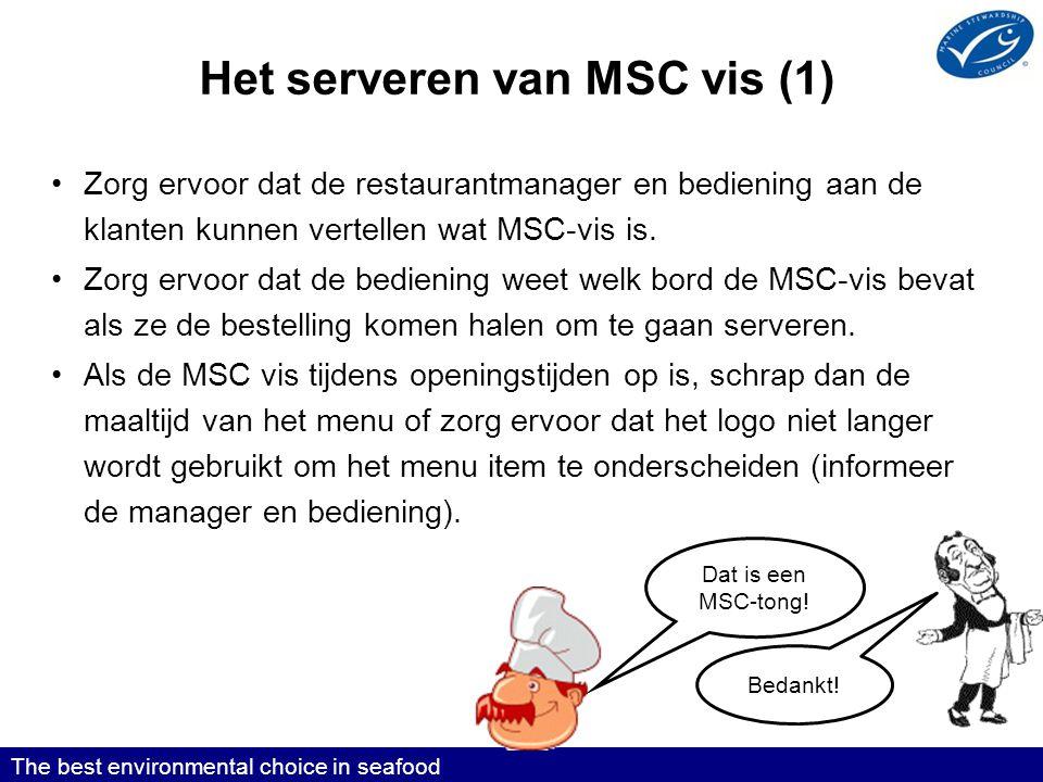 Het serveren van MSC vis (1)