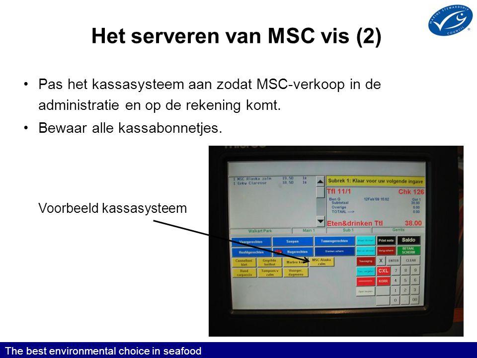Het serveren van MSC vis (2)