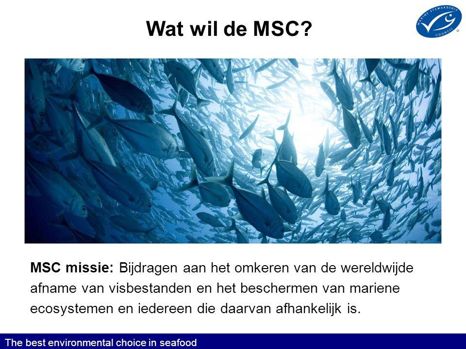 Wat wil de MSC Toelichting: