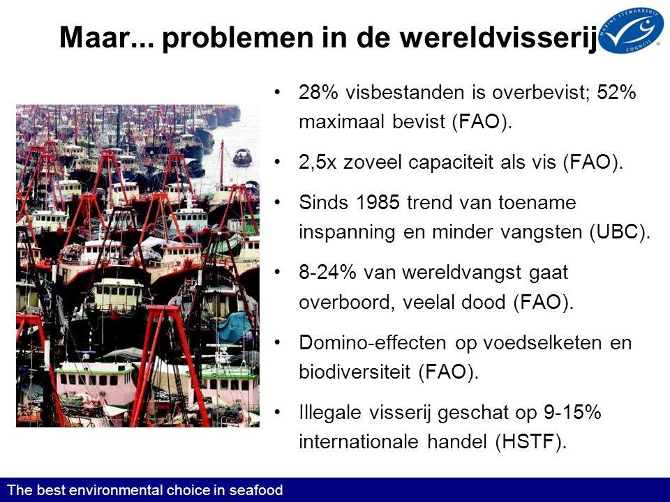Maar... problemen in de wereldvisserij