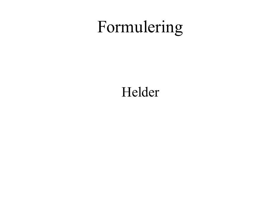 Formulering Helder.