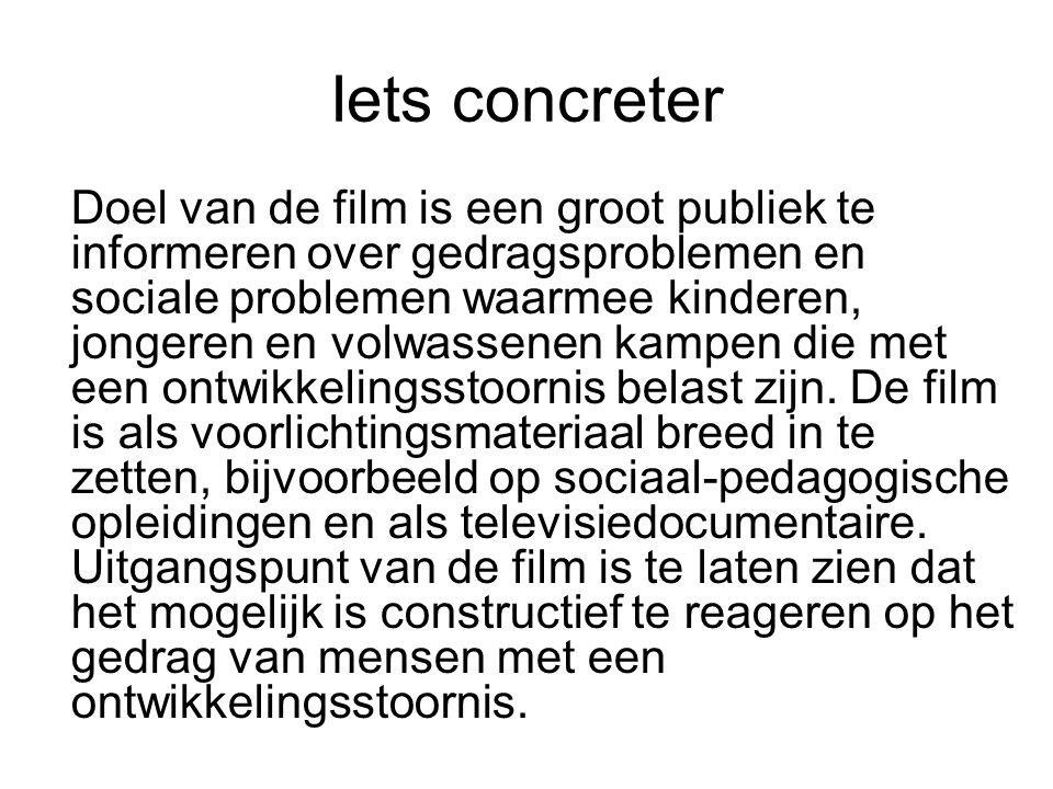 Iets concreter