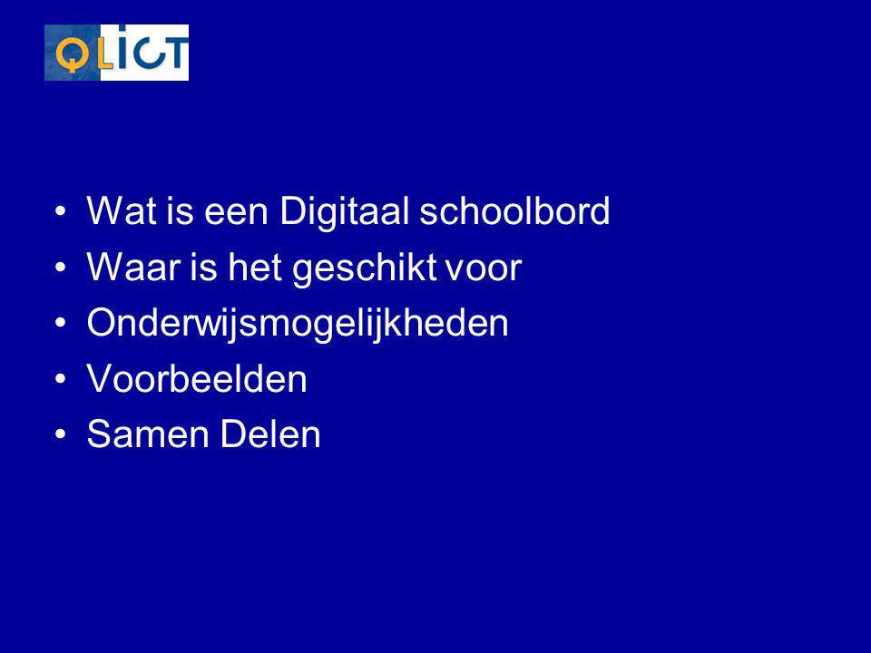Hoe werkt een digitaal Schoolbord