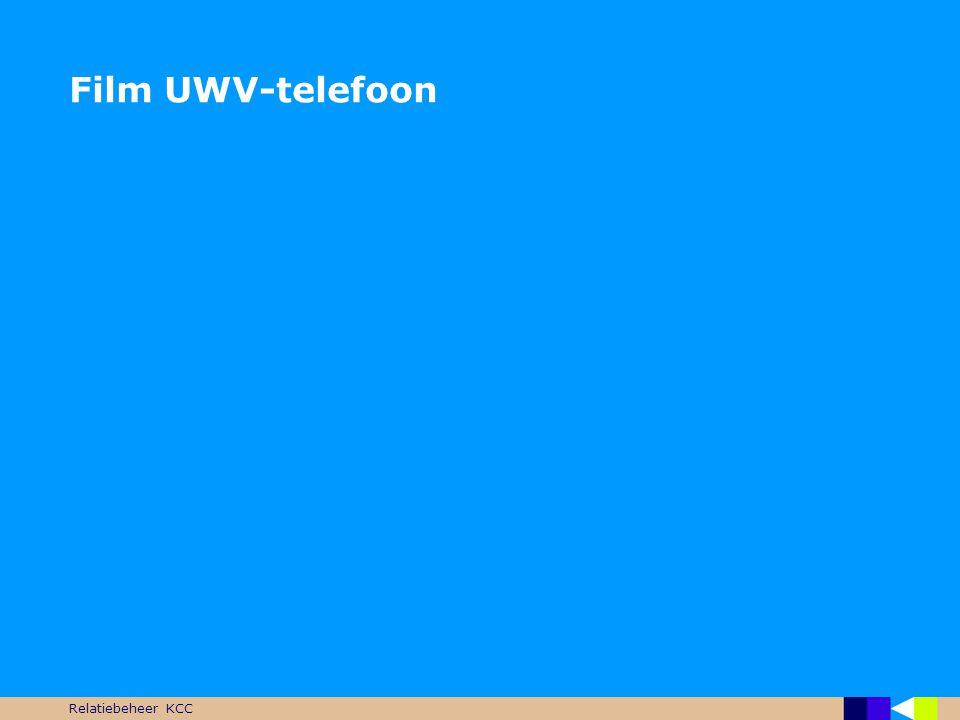 Film UWV-telefoon Relatiebeheer KCC