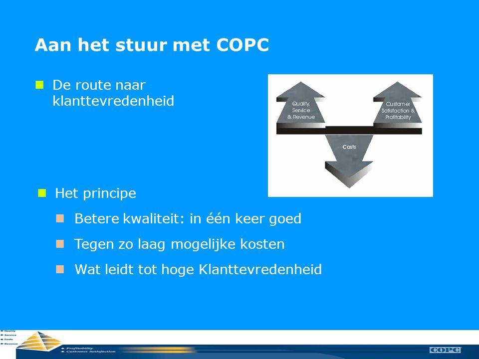 Aan het stuur met COPC De route naar klanttevredenheid Het principe
