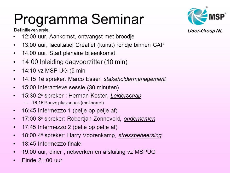 Programma Seminar Definitieve versie