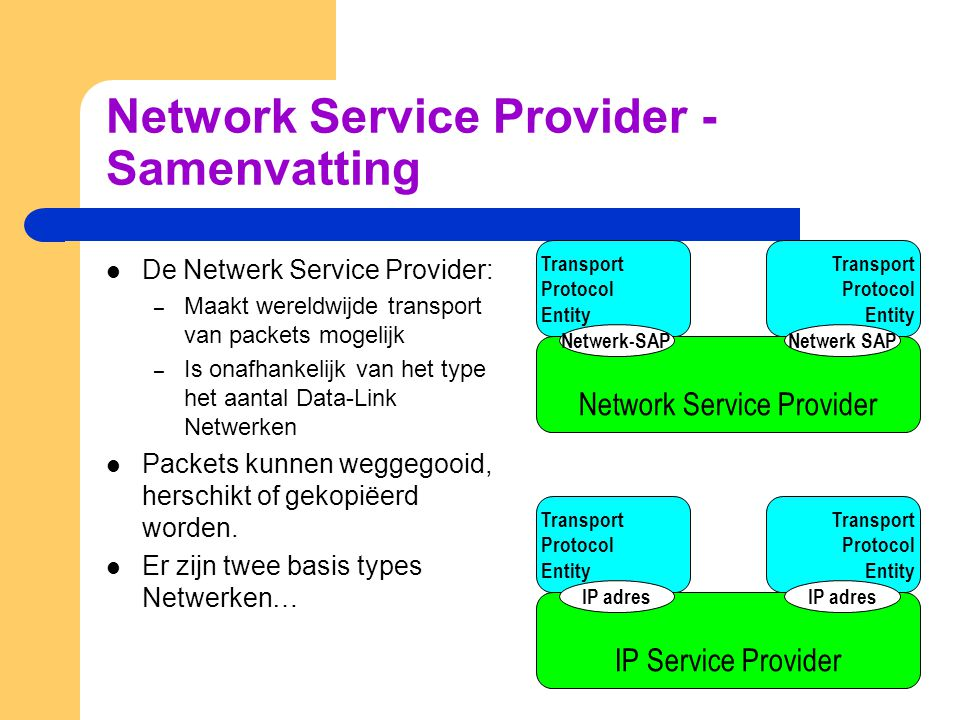 Network Service Provider - Samenvatting