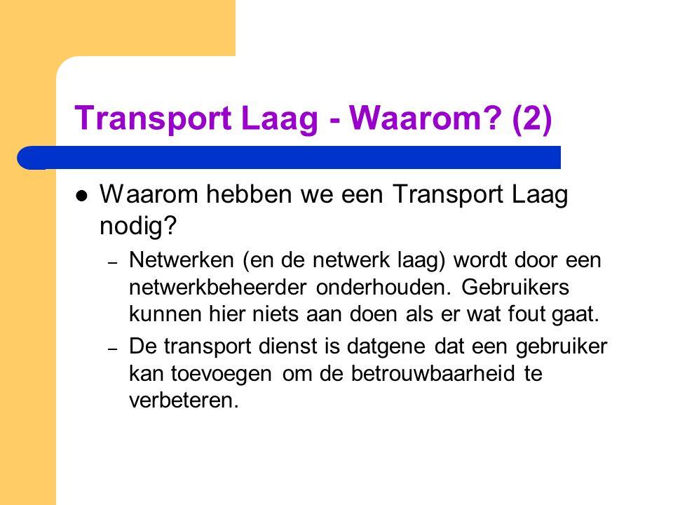 Transport Laag - Waarom (2)