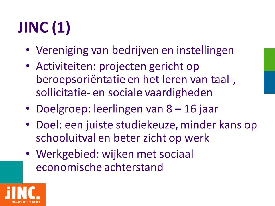 JINC (1) Vereniging van bedrijven en instellingen