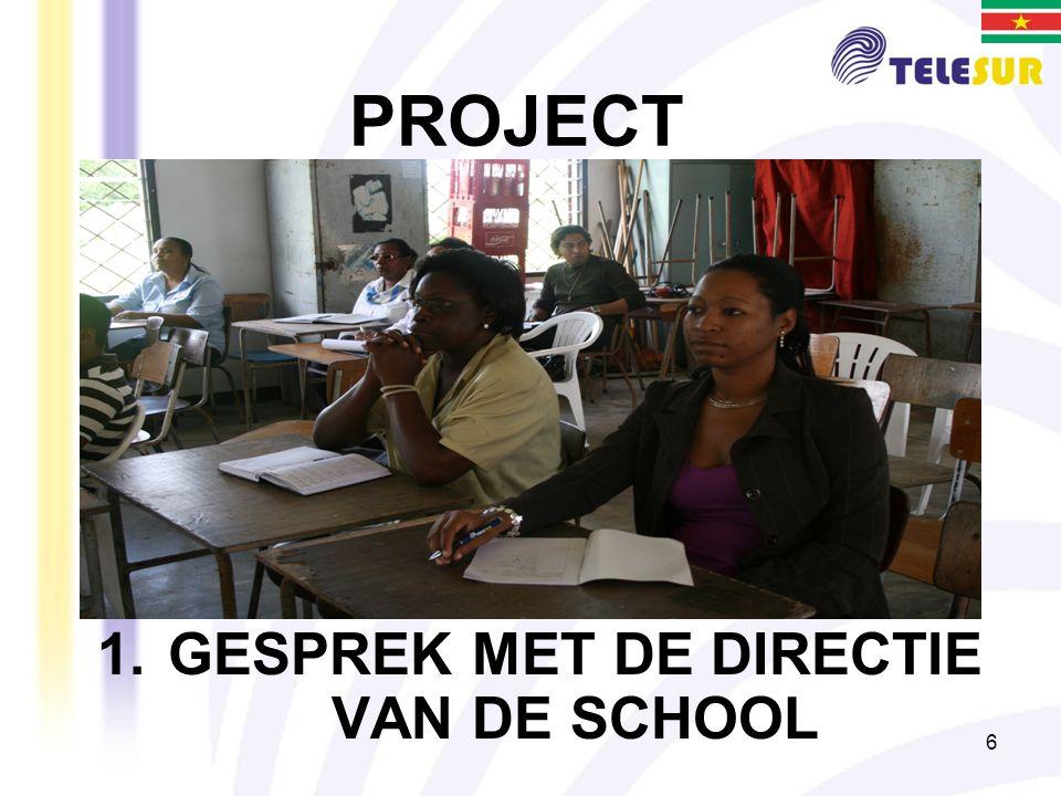 GESPREK MET DE DIRECTIE VAN DE SCHOOL