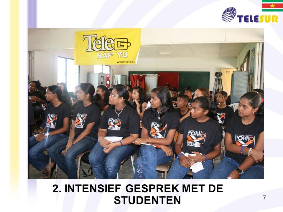 2. INTENSIEF GESPREK MET DE STUDENTEN