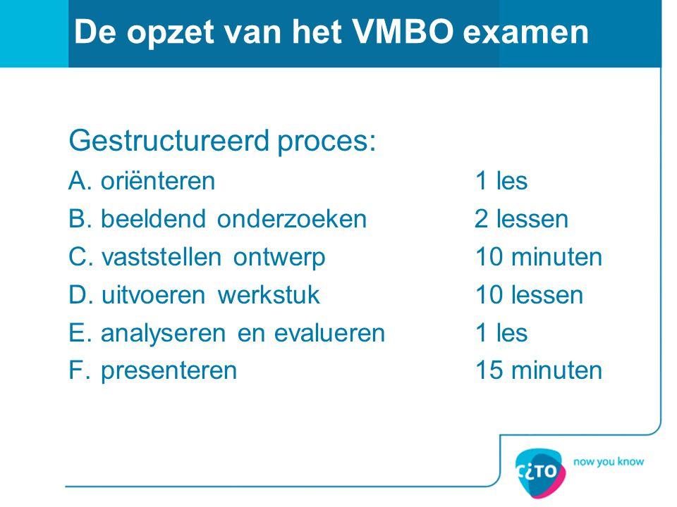 De opzet van het VMBO examen