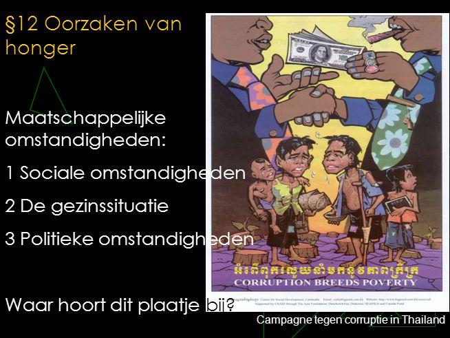 §12 Oorzaken van honger Maatschappelijke omstandigheden: