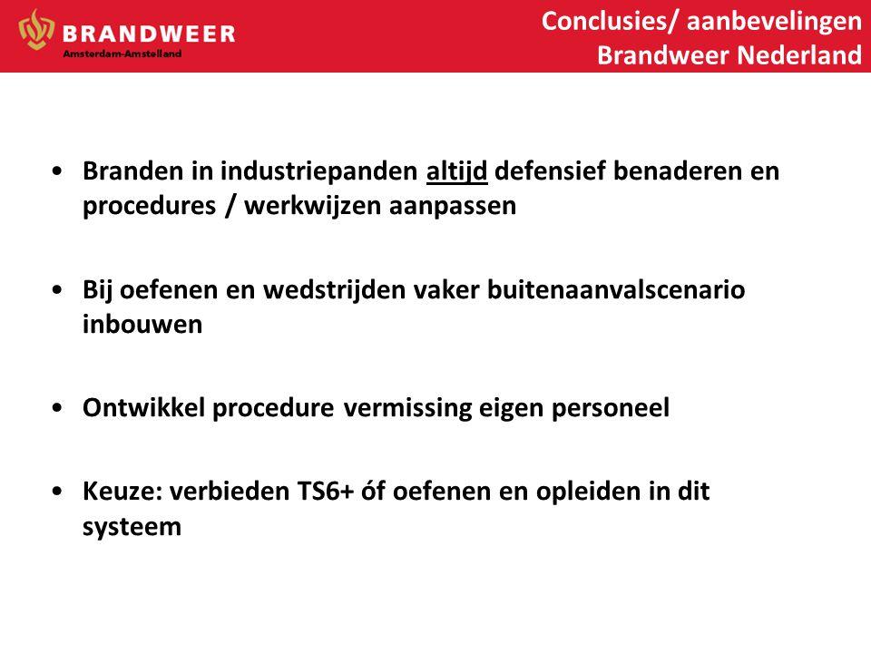 Conclusies/ aanbevelingen Brandweer Nederland