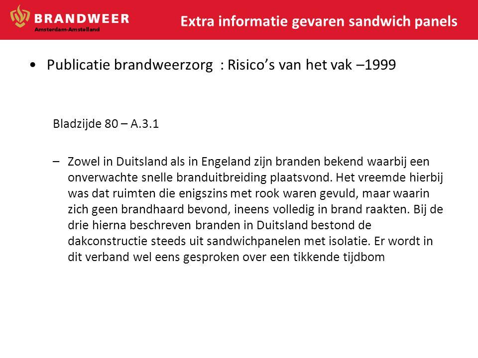 Extra informatie gevaren sandwich panels
