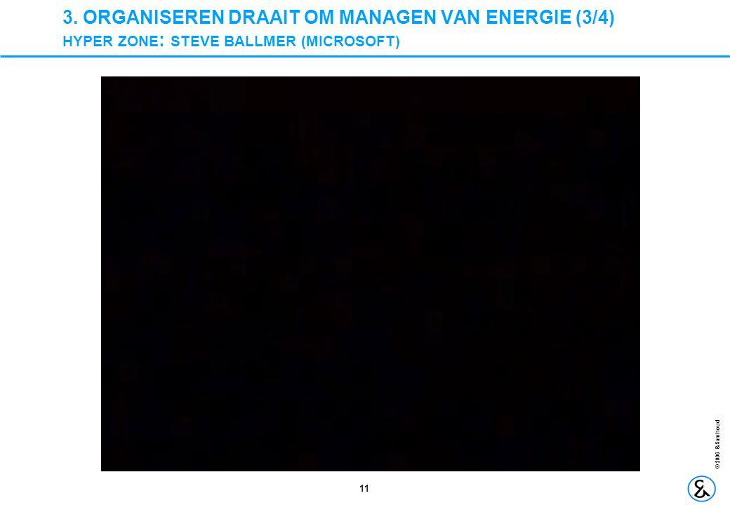 3. ORGANISEREN DRAAIT OM MANAGEN VAN ENERGIE (3/4) HYPER ZONE: STEVE BALLMER (MICROSOFT)