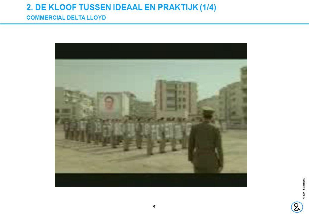 2. DE KLOOF TUSSEN IDEAAL EN PRAKTIJK (1/4) COMMERCIAL DELTA LLOYD