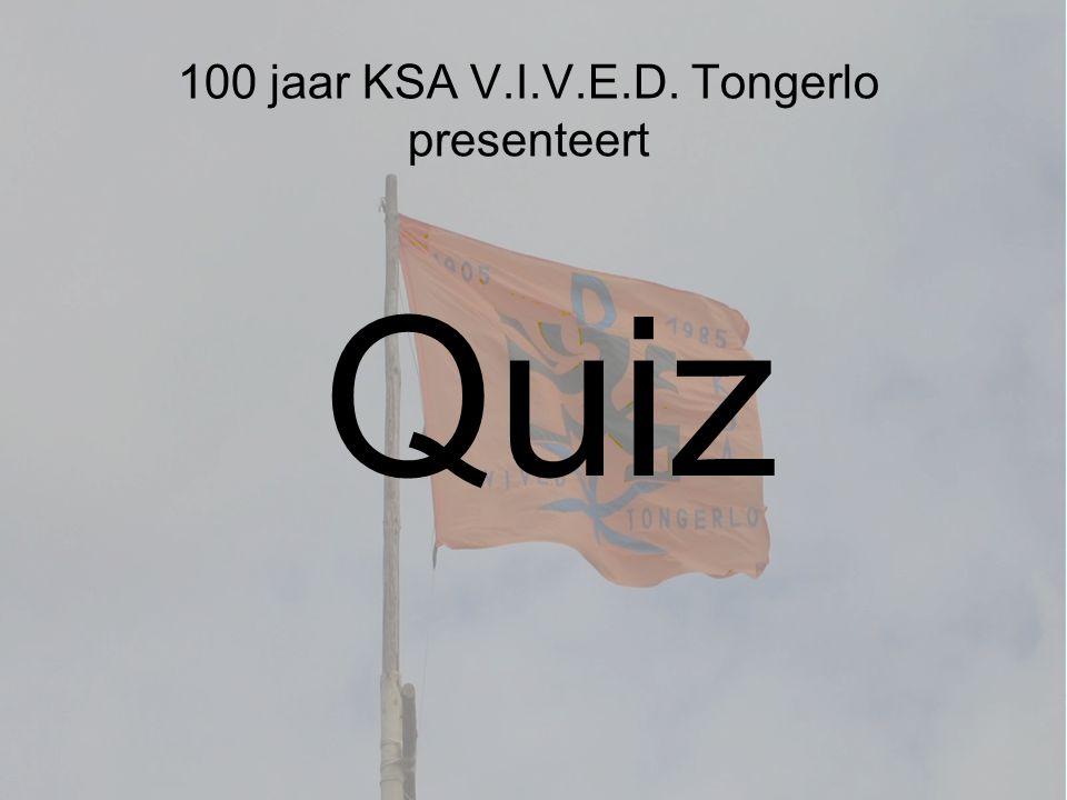 100 jaar KSA V.I.V.E.D. Tongerlo presenteert