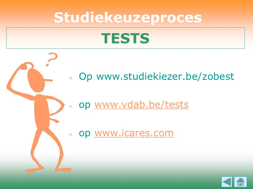 Studiekeuzeproces TESTS