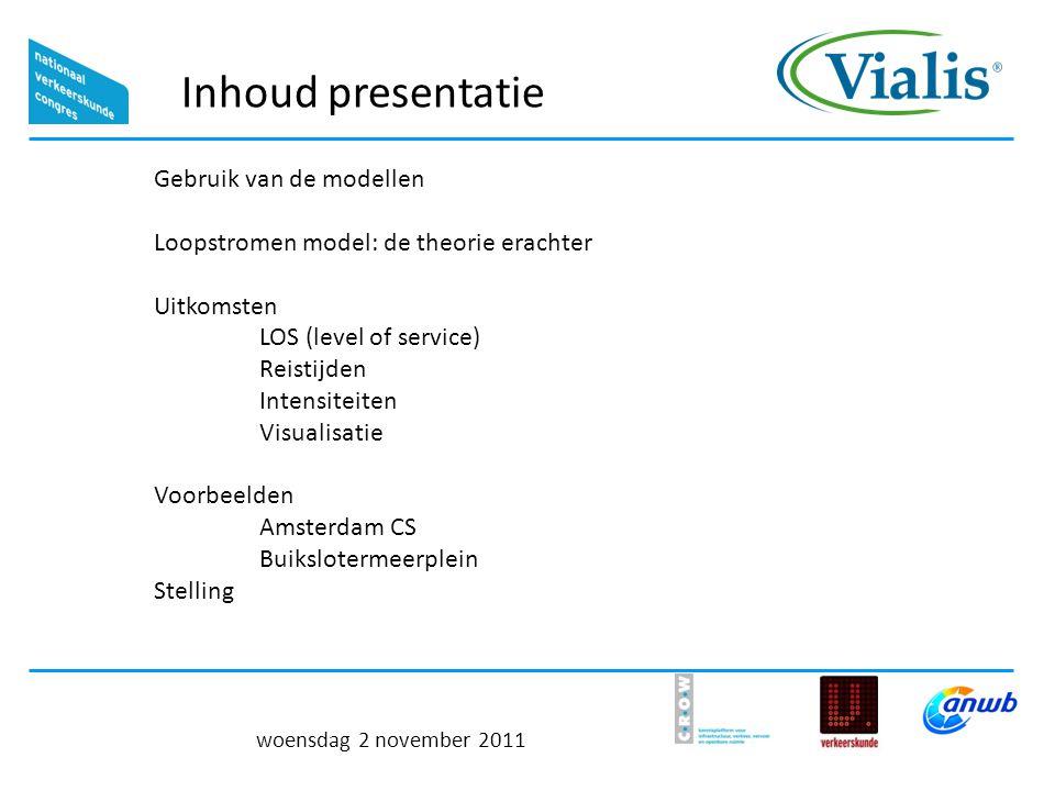 Inhoud presentatie Gebruik van de modellen