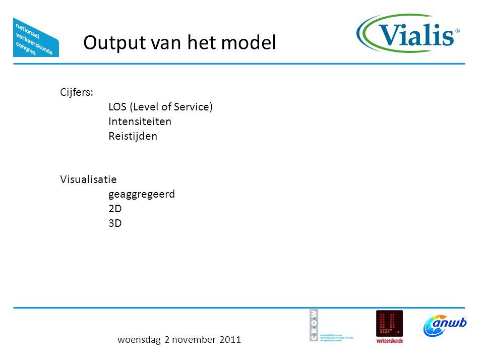Output van het model Cijfers: LOS (Level of Service)