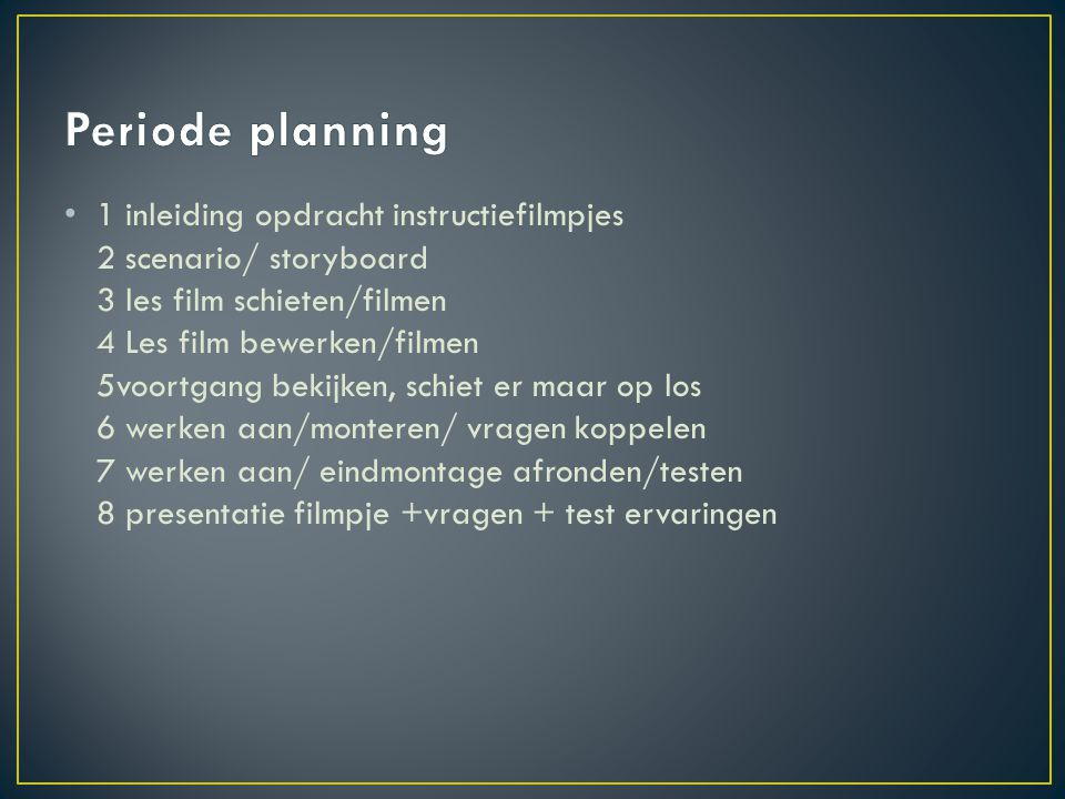 Periode planning