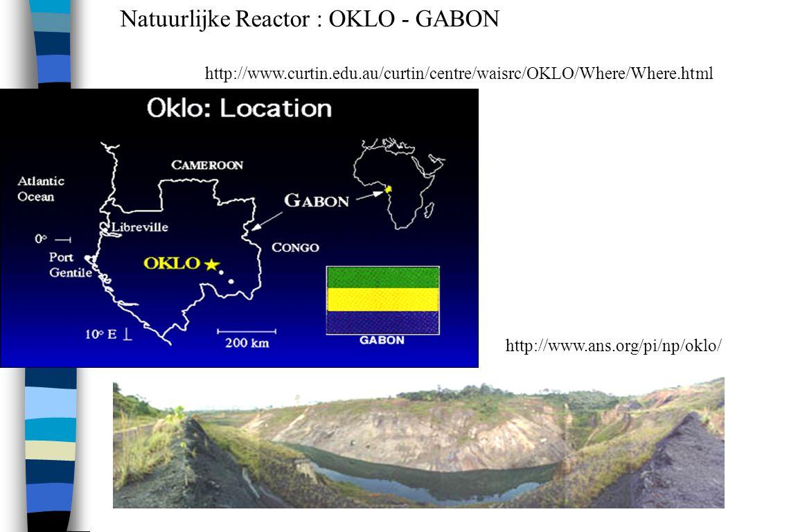Natuurlijke Reactor : OKLO - GABON