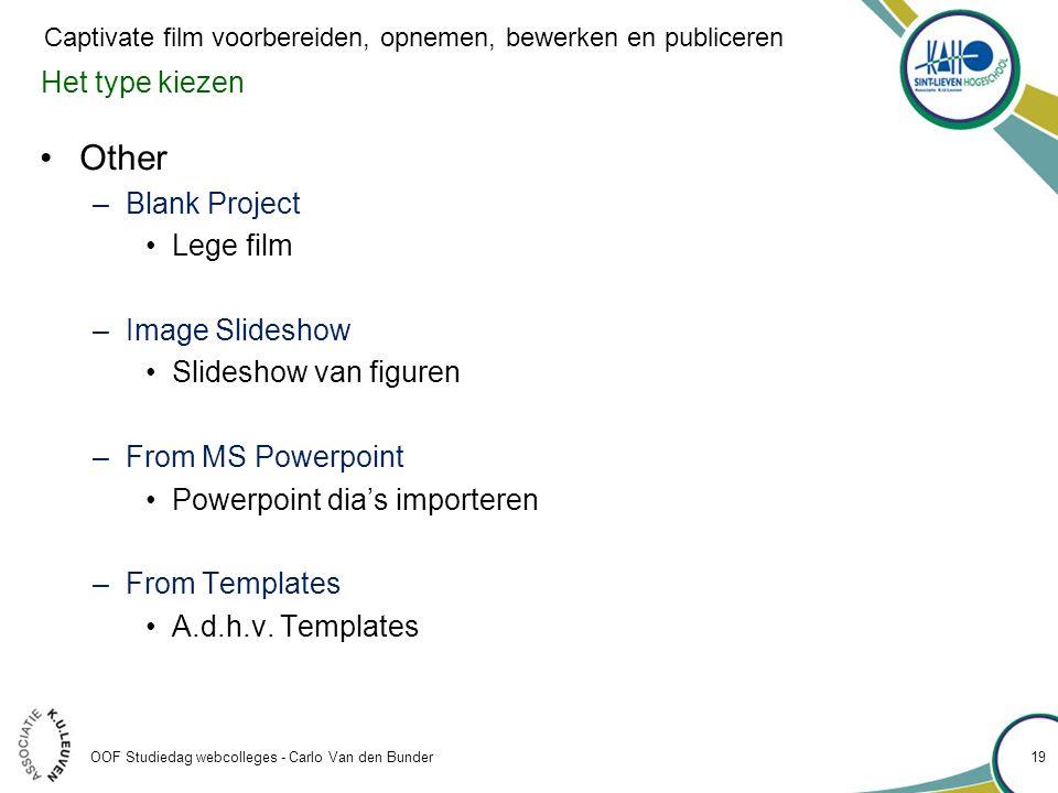 Other Het type kiezen Blank Project Lege film Image Slideshow