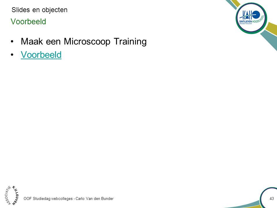 Maak een Microscoop Training Voorbeeld
