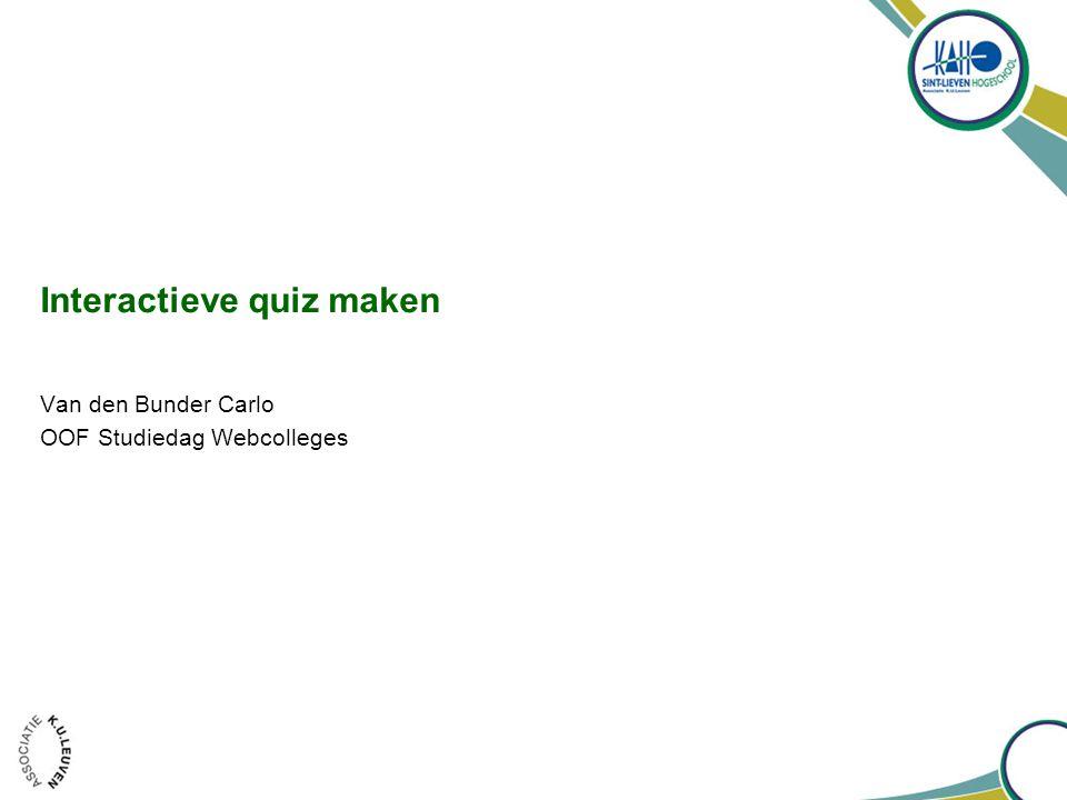 Interactieve quiz maken