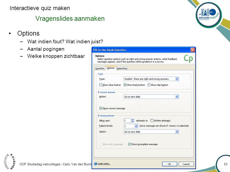 Vragenslides aanmaken