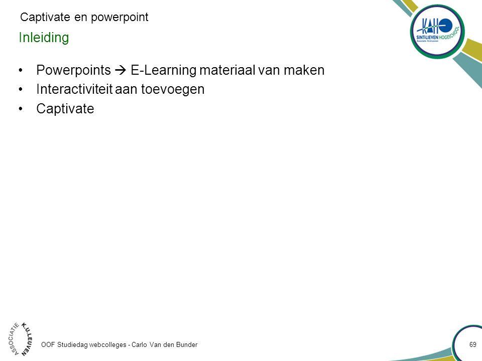 Powerpoints  E-Learning materiaal van maken