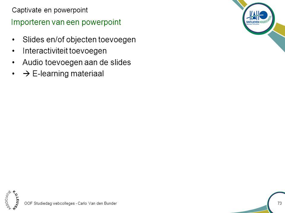 Importeren van een powerpoint