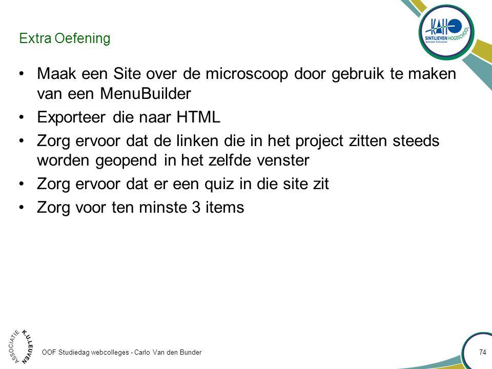 Exporteer die naar HTML