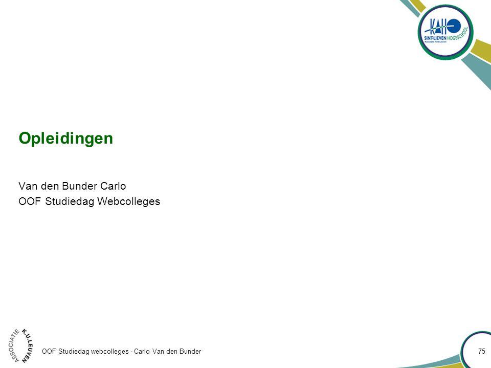 Van den Bunder Carlo OOF Studiedag Webcolleges