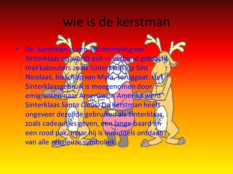 wie is de kerstman De.