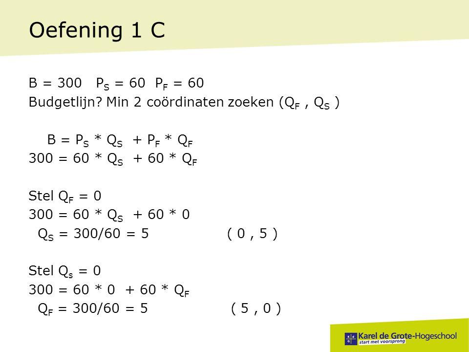 Oefening 1 C