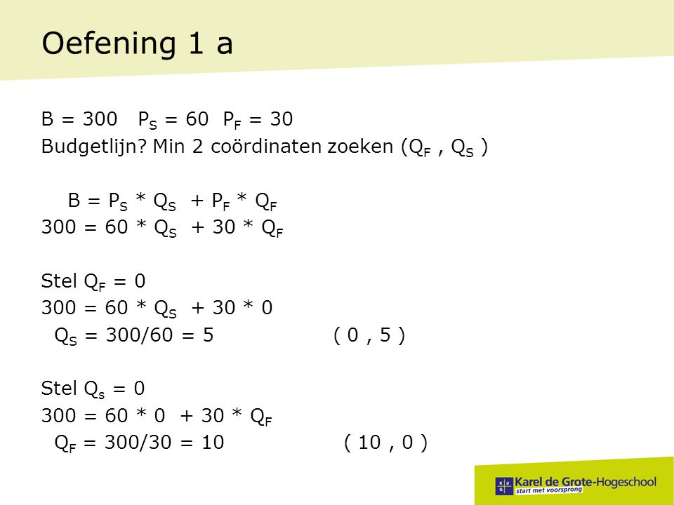 Oefening 1 a