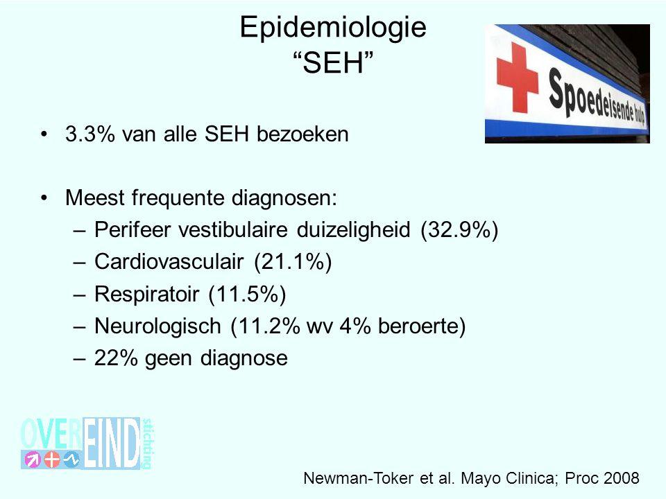 Epidemiologie SEH 3.3% van alle SEH bezoeken