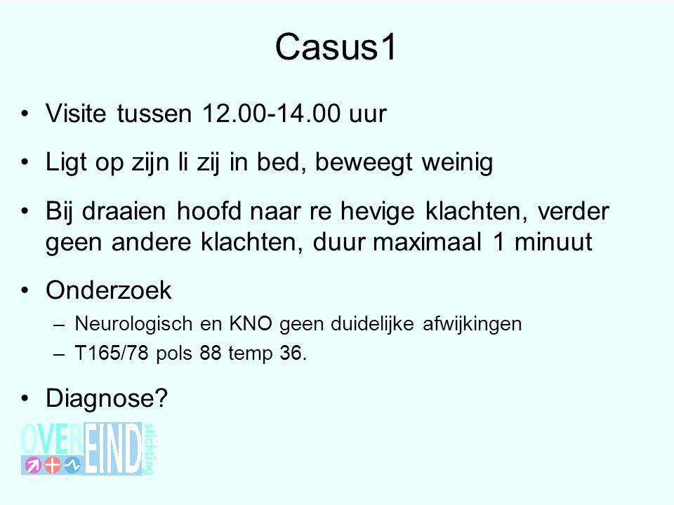 Casus1 Visite tussen 12.00-14.00 uur