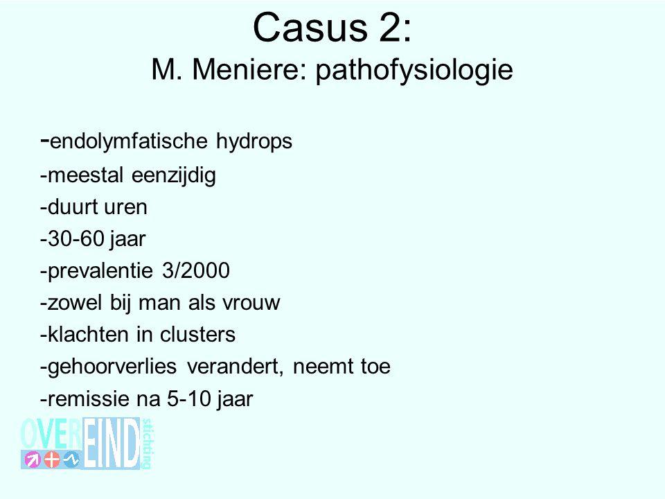 Casus 2: M. Meniere: pathofysiologie
