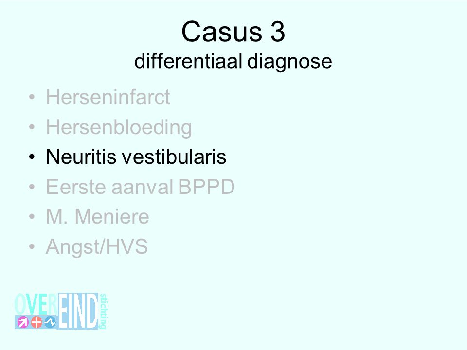 Casus 3 differentiaal diagnose