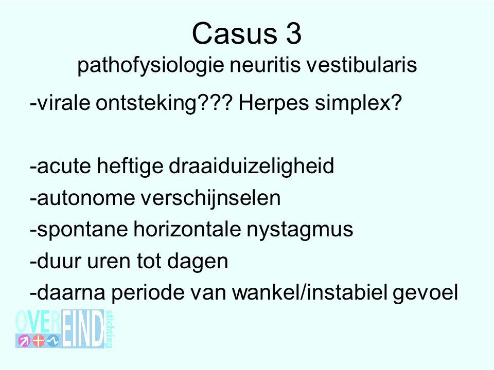 Casus 3 pathofysiologie neuritis vestibularis