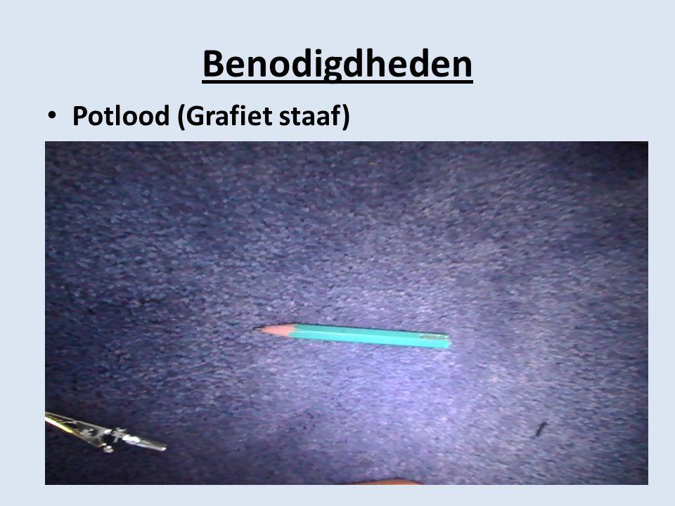 Benodigdheden Potlood (Grafiet staaf)