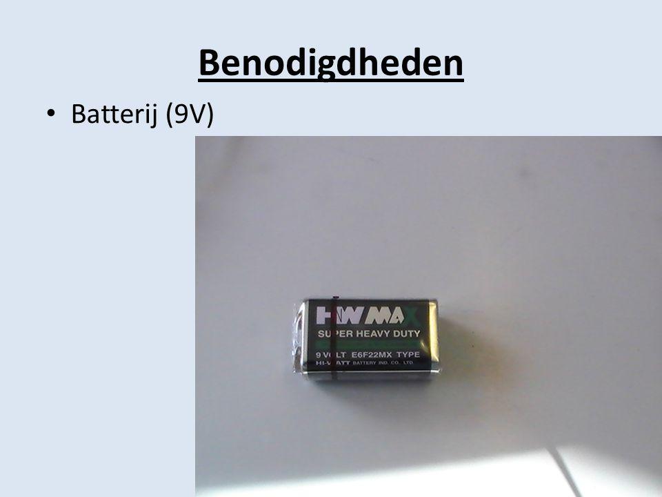 Benodigdheden Batterij (9V)