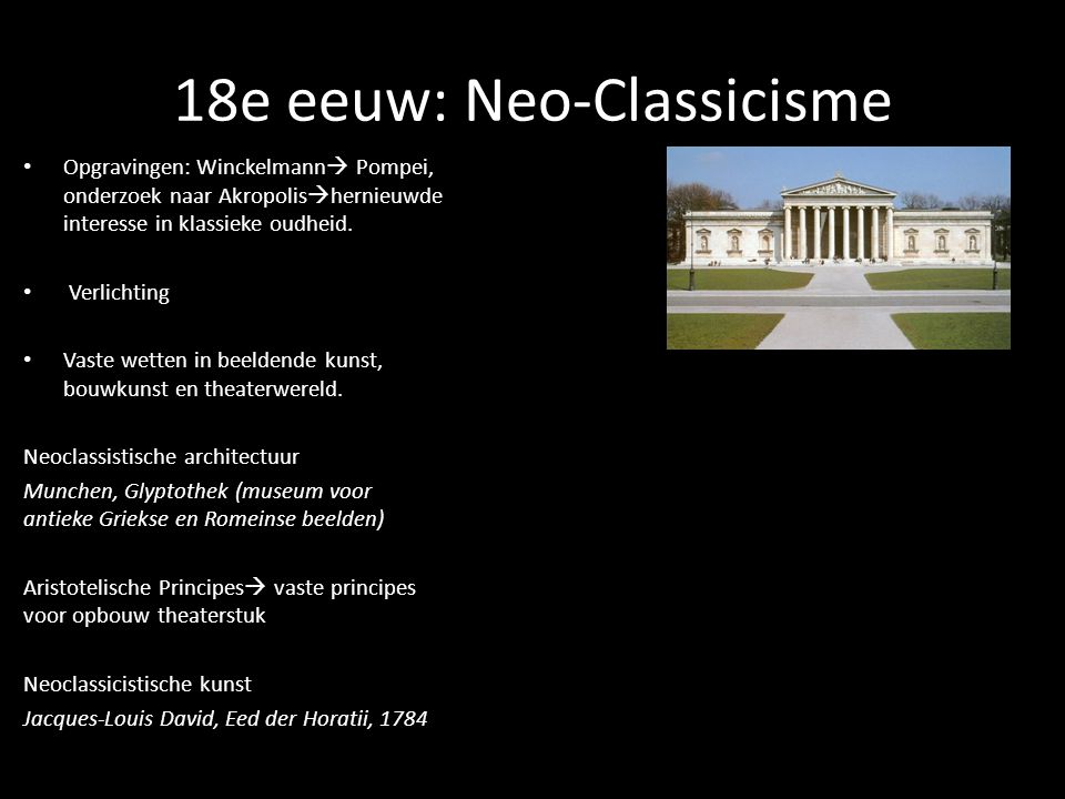 18e eeuw: Neo-Classicisme